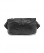 BUTLER VERNER SAILS()の古着「ポニープルアップレザーウエストバッグ」 ブラック