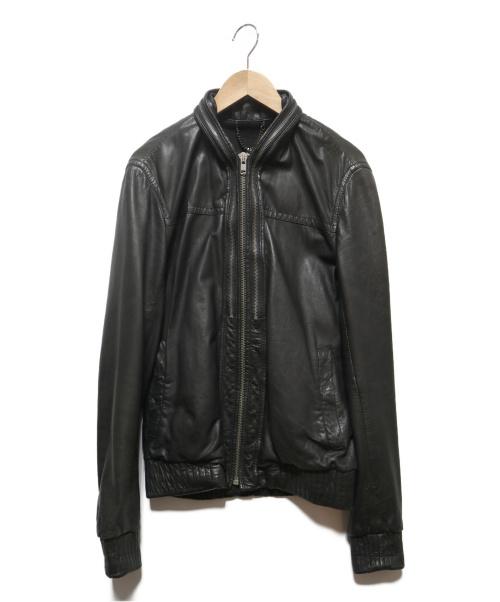 ALL SAINTS(オールセインツ)ALL SAINTS (オールセインツ) レザーボンバージャケット ブラック サイズ:Sの古着・服飾アイテム
