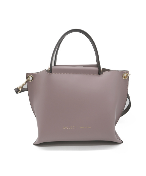 IACUCCI(イアクッチ)IACUCCI (イアクッチ) 2WAYハンドバッグ ピンクの古着・服飾アイテム