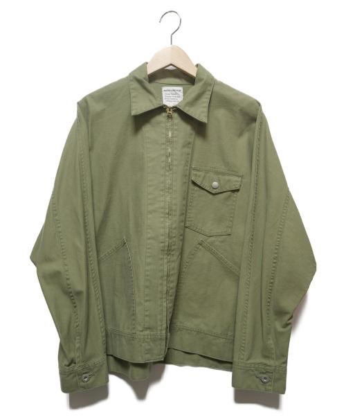 H.UNIT STORE LABEL(エイチユニットストアレーベル)H.UNIT STORE LABEL (エイチユニットストアレーベル) T/C Poplin Zip Work Jacket カーキ サイズ:2の古着・服飾アイテム