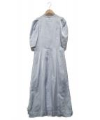 LANVIN en Bleu(ランバンオンブルー)の古着「タックスリーブワンピース」|ブルー