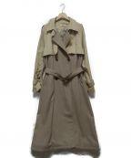 UNGRID(アングリッド)の古着「ドッキングデザイントレンチコート」 ベージュ