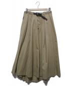 ()の古着「ボリュームロングフレアスカート」|ベージュ