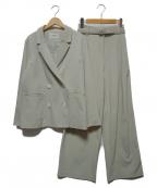 LADYMADE(レディメイド)の古着「ペールカラーダブルセットアップ」|ライトグリーン