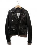 DRWCYS(ドロシーズ)の古着「レザーダブルライダースジャケット」|ブラック