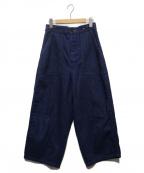 ordinary fits(オーディナリーフィッツ)の古着「ワイドデニムパンツ」|インディゴ