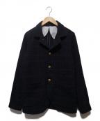 Trophy Clothing(トロフィークロージング)の古着「チェックカバーオール」 ネイビー