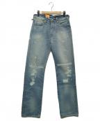 LEVIS(リーバイス)の古着「501リペアデニムパンツ」 インディゴ