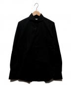 GUY ROVER(ギローバー)の古着「ストレッチワイドカラーシャツ」|ブラック