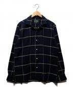 GITMAN BROS(ギットマンブラザーズ)の古着「チェックオープンカラーシャツ」 ネイビー