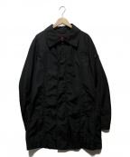 PEUTEREY(ピューテリー)の古着「ナイロンステンカラーコート」 ブラック