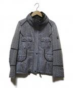 伊太利屋(イタリヤ)の古着「パイソン柄ジャケット」|ブルー