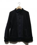 BLUE BLUE()の古着「ヘビースウェットデッキジャケット」|ブラック