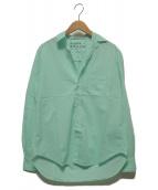 ()の古着「イタリアンライトポプリンカラーシャツ」|グリーン