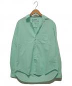 Frank&Eileen(フランクアンドアイリーン)の古着「イタリアンライトポプリンカラーシャツ」 グリーン