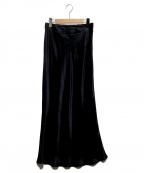 SACRA(サクラ)の古着「VINTAGE SATIN SKIRT」|ブラック