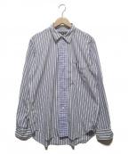 COMME des GARCONS HOMME DEUX()の古着「ストライプシャツ」|ブルー×ホワイト