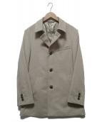 ()の古着「アンゴラショートビーバーステンカラーコート」|ベージュ