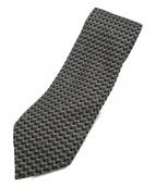 ()の古着「総柄ネクタイ」|グレー×ベージュ