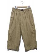 ()の古着「COTTON LINEN BALOON PANTS」|ベージュ