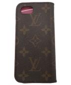 ()の古着「iPhone 7ケース」|ブラウン×ピンク