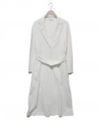 LA MARINE FRANCAISE(マリンフランセーズ)の古着「E/C/麻オックスコート」|ホワイト