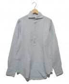 finamore(フィナモレ)の古着「リネン混プルオーバーシャツ」 ブルー