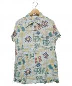 PHERROWS(フェローズ)の古着「総柄レーヨンシャツ」|ライトブルー