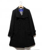 BURBERRY BLUE LABEL()の古着「メルトンダブルコート」|チャコールグレー