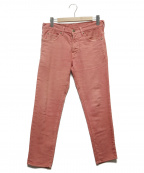 1piu1uguale3(ウノピゥウノウグァーレトレ)の古着「sweat denim cropped pants」|ピンク