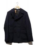 PS Paul Smith(PSポールスミス)の古着「メルトンPコート」|ネイビー