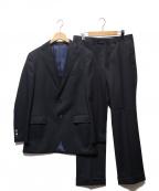 UNIVERSAL LANGUAGE(ユニバーサルランゲージ)の古着「ドットジャガード段返り3Bスーツ」 ブラック×ネイビー