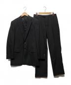 CORNELIANI(コルネリアーニ)の古着「SUPER100Sストライプセットアップスーツ」|ブラック