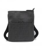 FENDI()の古着「ズッカ柄PVCショルダーバッグ」|ブラック