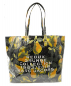 MARC JACOBS(マークジェイコブズ)の古着「REDUX GRUNGE FRUIT TOTE」|グリーン×イエロー