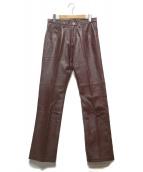 ()の古着「ゴートレザーパンツ」|ブラウン