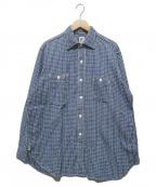 POST OALLS(ポストオーバーオールズ)の古着「パラカチェックシャツ」|ブルー×ホワイト