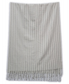 Royal Thistle(ロイヤルシッスル)の古着「カシミヤ大判マフラー」|アイボリー×ブラック