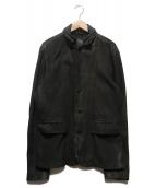 ALL SAINTS(オールセインツ)の古着「SURVEY LEATHER BLAZER」|ブラック