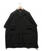 DAIWA PIER39(ダイワ ピアサーティンナイン)の古着「TECH ANGLER`S OPEN S/S」 ブラック