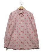 ()の古着「HULA STRIPEオックスフォードシャツ」|ピンク