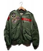 AVIREX(アヴィレックス)の古着「L-2ジャケット」|カーキ