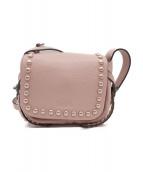 ()の古着「ラッカーリベットダコタクロスボディショルダーバッグ」|ピンク