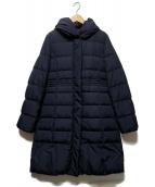 KUMIKYOKU(クミキョク)の古着「フーデッドダウンコート」 ネイビー