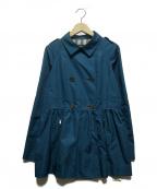BURBERRY LONDON()の古着「ショートトレンチコート」|ブルー
