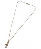 MIKIMOTO(ミキモト)の古着「パール×ルビーペンダントネックレス」|ゴールド×レッド