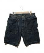 SASSAFRAS(ササフラス)の古着「FALL LEAF SPRAYER PANTS 1/2」 インディゴ