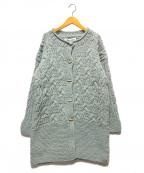 bulle de savon(ビュル デ サボン)の古着「トルグボタンニットコート」|ブルー