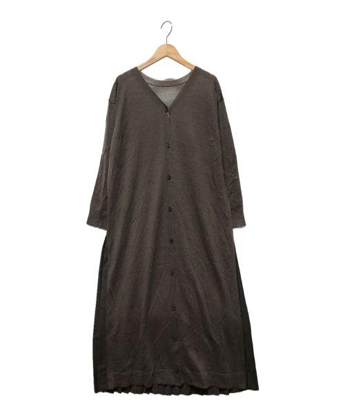 DADAISM(ダダイスム)DADAISM (ダダイスム) バックプリーツロングカーディガン ブラウン サイズ:FREE 未使用品の古着・服飾アイテム