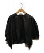 ()の古着「フリンジトップ」|ブラック